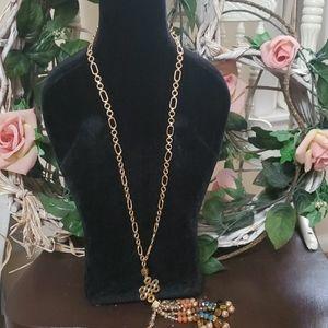 Cato Beaded Tassel Necklace
